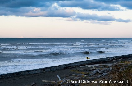 A messy surf day on Kachemak Bay