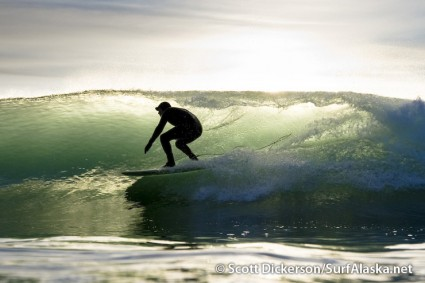 Tim Bowler surfing Alaska photo