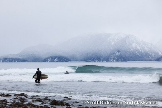 Surf break in Seward, Alaska.