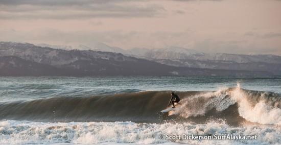 Gart Curtis surfing Alaska