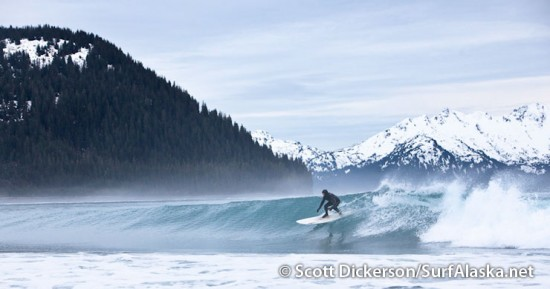 Iceman surfing alaska