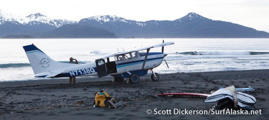 fly-out surfing Alaska
