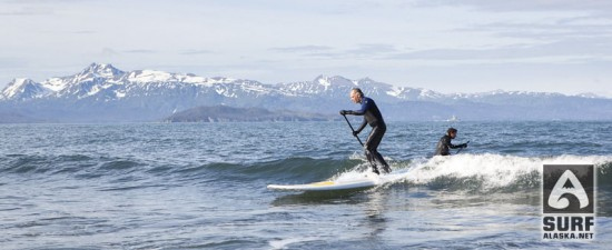 Mike McCune first time stand up paddlesurfing Alaska!