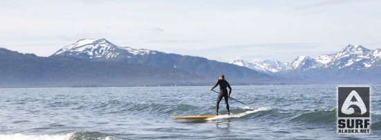 Matt James standup paddlesurfing Alaska