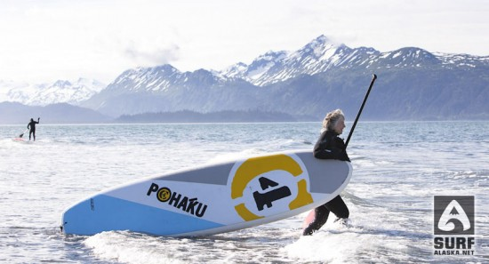Wendy Toymil heading out for her first stand up paddlesurf session.