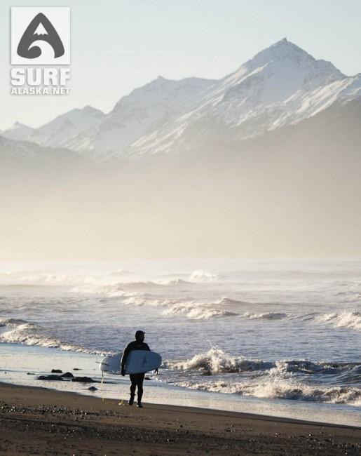 Surfing Homer, Alaska