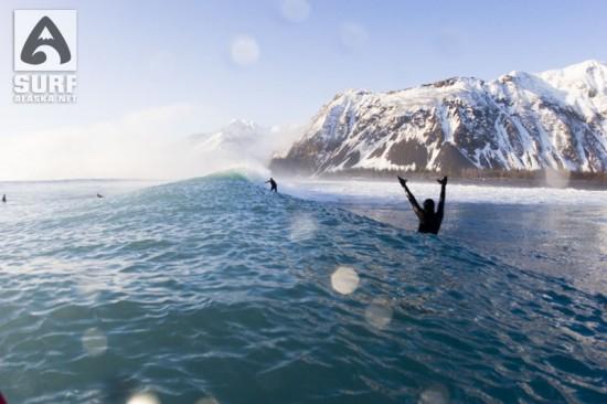 Surfing Bear Glacier, Alaska