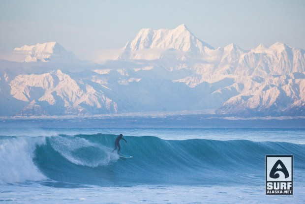 Mike McCune Surfing Yakutat, Alaska.