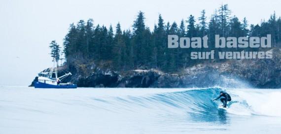boat based surfing adventures in Alaska