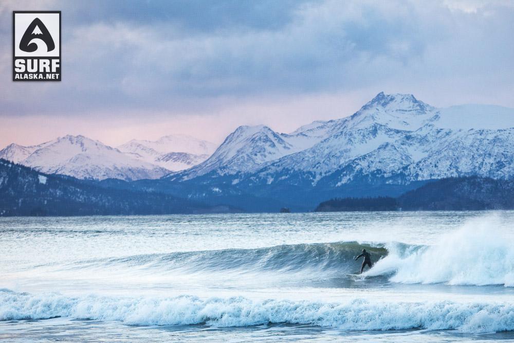 Jake Beudoin surfing Alaska