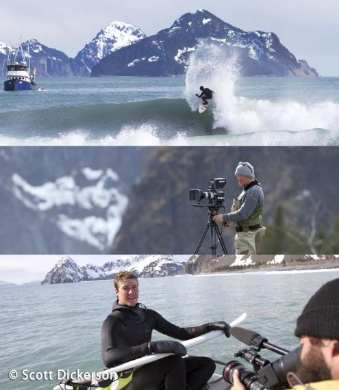 Brothers on the Run surfing Alaska