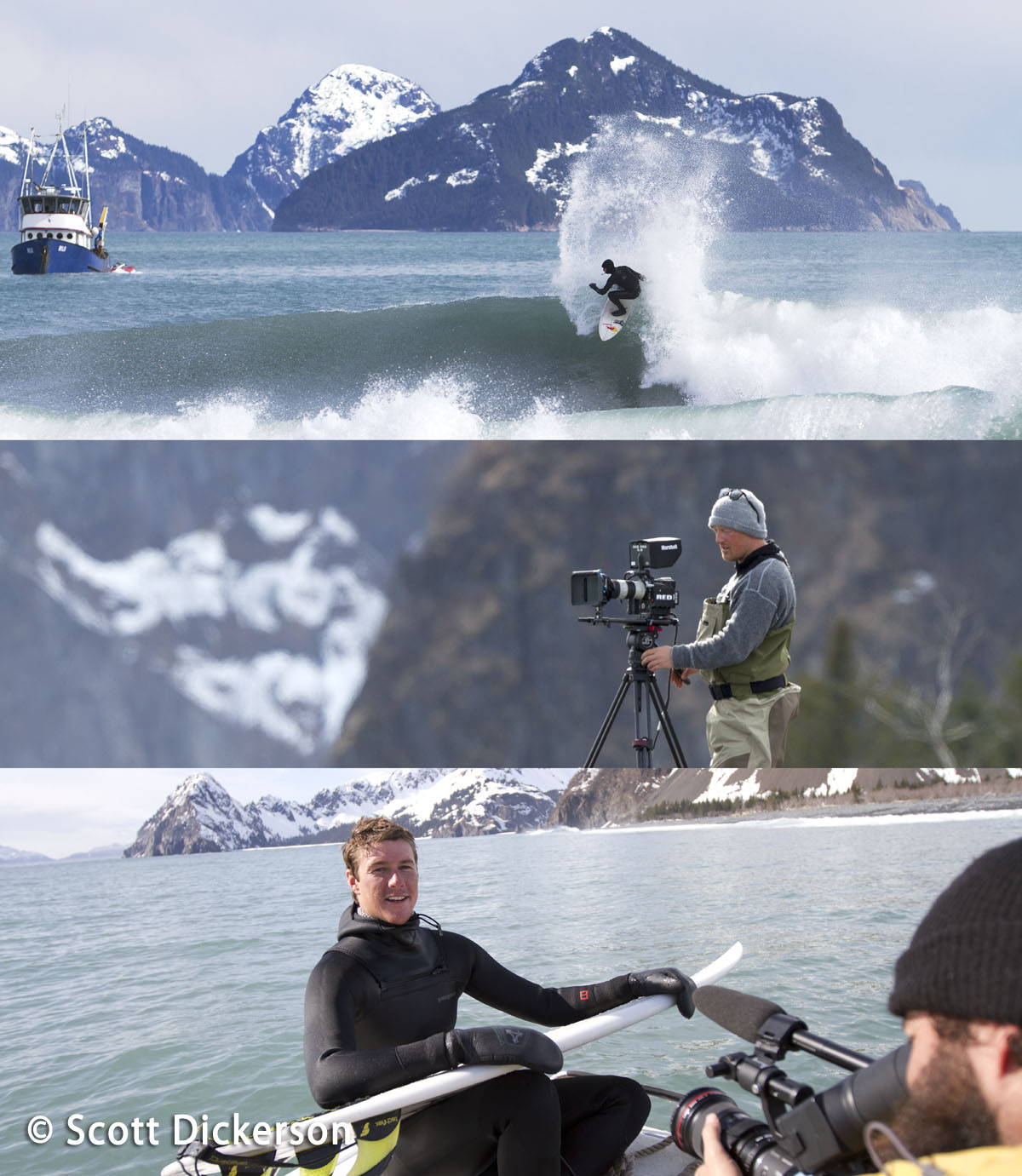 Brothers on the Run surfing Alaska