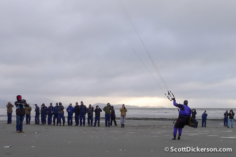 kitesurfing alaska in winter