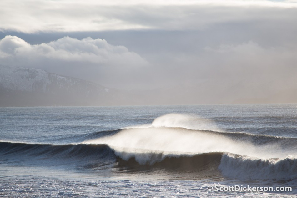 Winter surf in Alaska