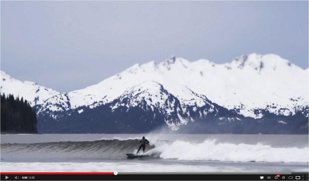 Surfing Alaska video