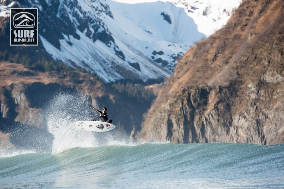 Mason Ho on a boat based surf adventrue in Alaska aboard the m/v MIlo.